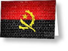 Brick Wall Angola Greeting Card