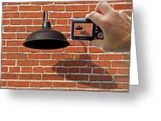 Brick Wall Snap Shot Greeting Card