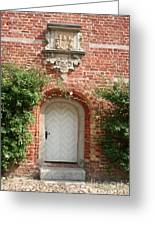 Brickcastle And White Door Greeting Card