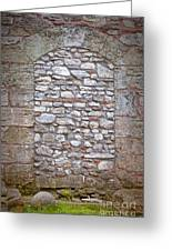 Bricked Up Doorway Greeting Card