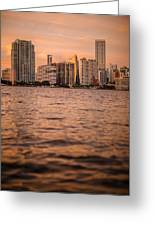 Brickell Sunset Greeting Card