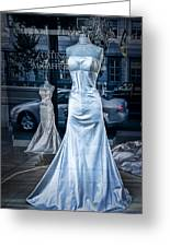 Bridal Dress Window Display In Ottawa Ontario Greeting Card