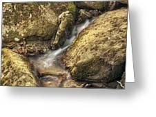 Bridal Veil Stream And Mossy Rocks - Heber Springs Arkansas Greeting Card