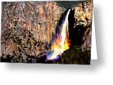 Bridalvail Falls Yosemite National Park Greeting Card