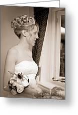Bride Awaits Her Groom Greeting Card