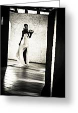 Bride. Black And White Greeting Card