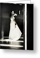 Bride I. Black And White Greeting Card
