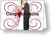 Bride N Groom Congratulations Greeting Card