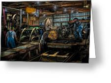 Briden-roen Sawmill Greeting Card