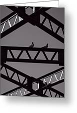 Bridge Abstract Greeting Card