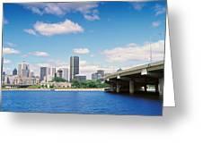 Bridge Across A Canal, Lachine Canal Greeting Card