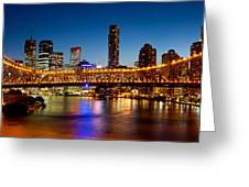 Bridge Across A River, Story Bridge Greeting Card