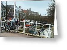 Bridge Across Canal - Amsterdam Greeting Card