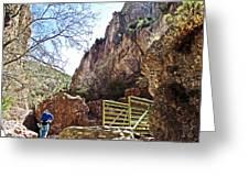 Bridge Across The Whitewater River On Whitewater Catwalk National Recreation Trail Near Glenwood-new Greeting Card