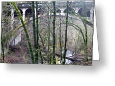 Bridge Arch Through The Trees Greeting Card