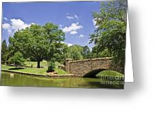 Bridge At A Park In The Summer Greeting Card