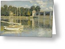 Bridge At Argenteuil Greeting Card