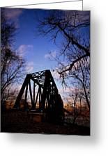 Bridge At Dusk Greeting Card