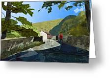 Bridge At Froggatt Greeting Card by Kenneth North
