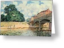 Bridge At Hampton Court Greeting Card