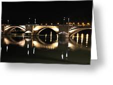 Bridge At Night Greeting Card