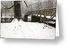Bridge At Old Mine Park Greeting Card
