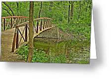 Bridge At River Bend Greeting Card
