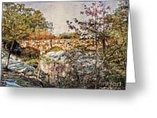 Bridge At Rock City Greeting Card