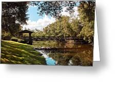 Bridge At Sawgrass Park Greeting Card