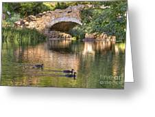 Bridge At Stow Lake Greeting Card