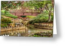 Bridge At Shelton Vineyards Greeting Card