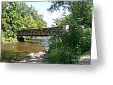 Bridge At Waubonsie Creek Greeting Card
