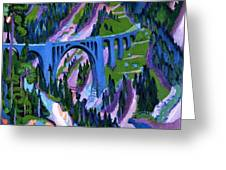 Bridge At Wiesen Greeting Card