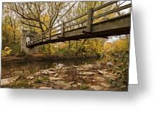 Bridge Between Seasons Greeting Card