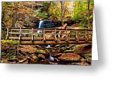 Bridge By B Reynolds Falls Greeting Card