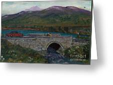 Bridge By Reservoir Greeting Card