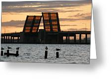 Bridge Closed To Traffic  Greeting Card