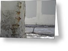 Bridge Column Decay 3 Greeting Card