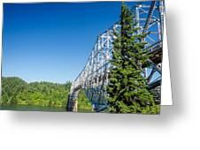 Bridge Connecting Oregon And Washington Greeting Card
