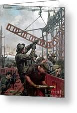 Bridge Construction 1909 Greeting Card
