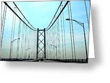 Bridge Crossing Greeting Card