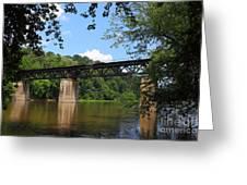 Bridge Crossing The Potomac River Greeting Card