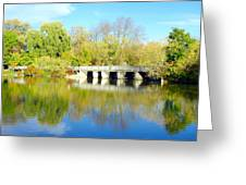 Bridge In A Park Greeting Card