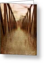 Bridge In Abstract Greeting Card