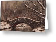 Bridge In Central Park Greeting Card