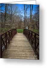 Bridge In Deep River County Park Northwest Indiana Greeting Card