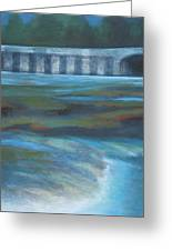 Bridge In Flood Stage Greeting Card