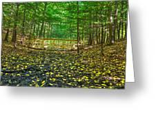 Bridge In Gosnell Big Woods Greeting Card