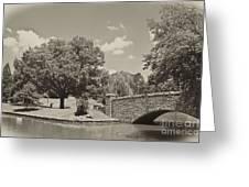 Bridge In Sepia Tones Greeting Card