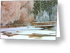 Bridge In Winter Greeting Card